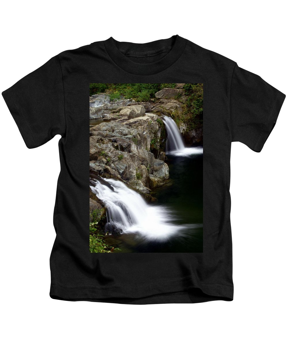 Waterfalls Kids T-Shirt featuring the photograph Double Twin by Marty Koch