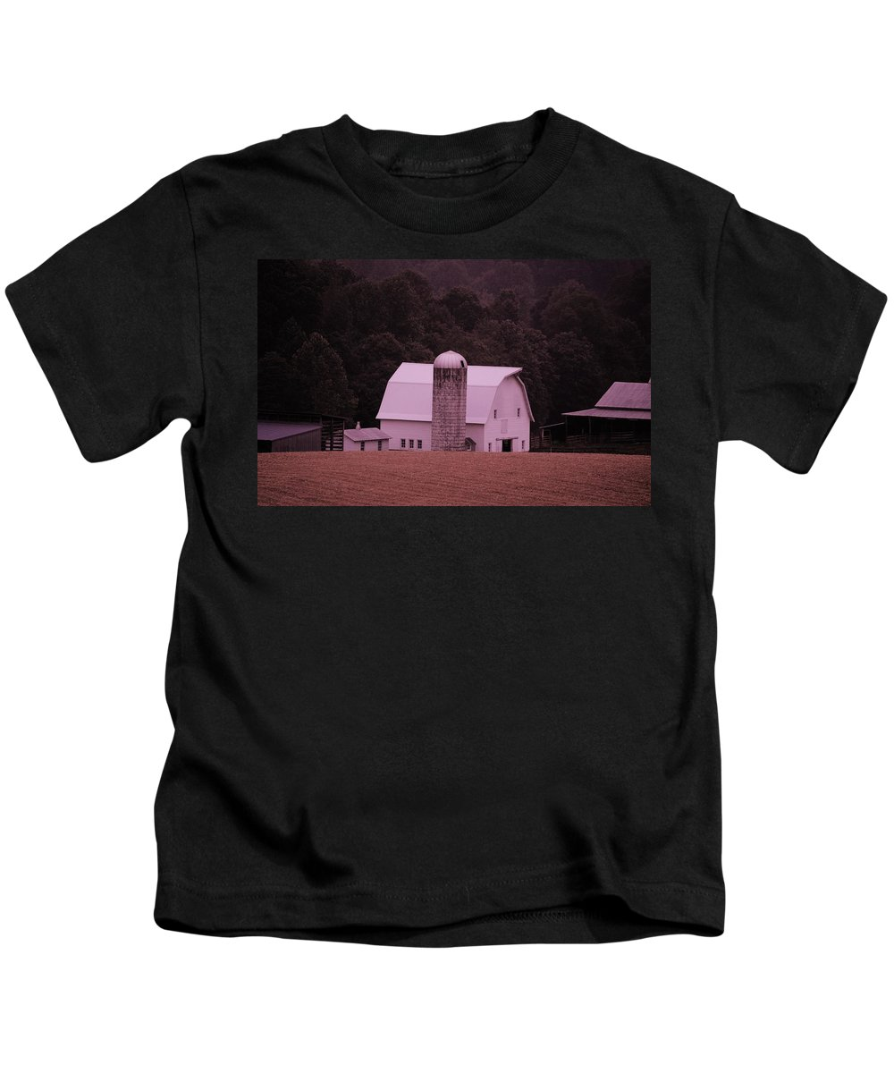 Barn Kids T-Shirt featuring the photograph Down On The Farm by Eric Liller