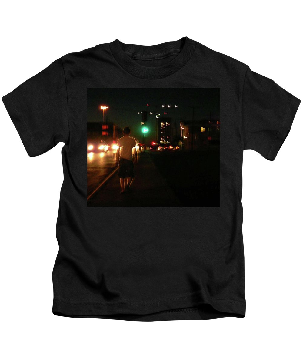 Deep Ellum Kids T-Shirt featuring the photograph Downtown by Angela Wright