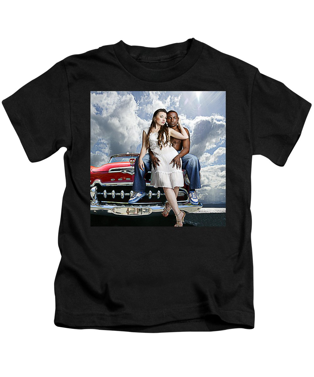 Auto Kids T-Shirt featuring the photograph Downtown by Jeff Burgess