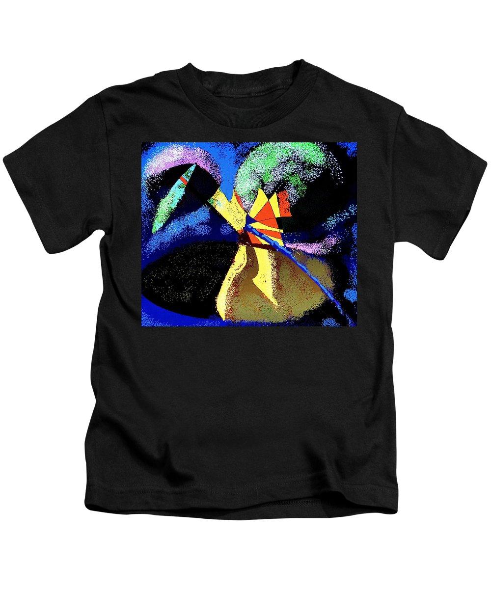 Digital Drawing Kids T-Shirt featuring the digital art Dragon Killer by Ian MacDonald