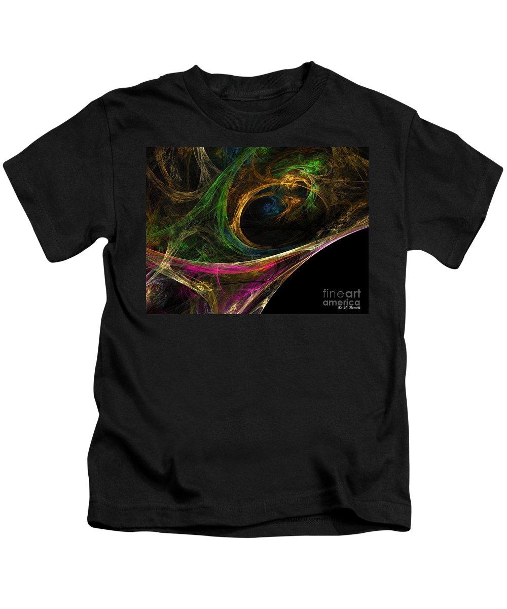 Kids T-Shirt featuring the digital art Dream Channel by Deborah Benoit