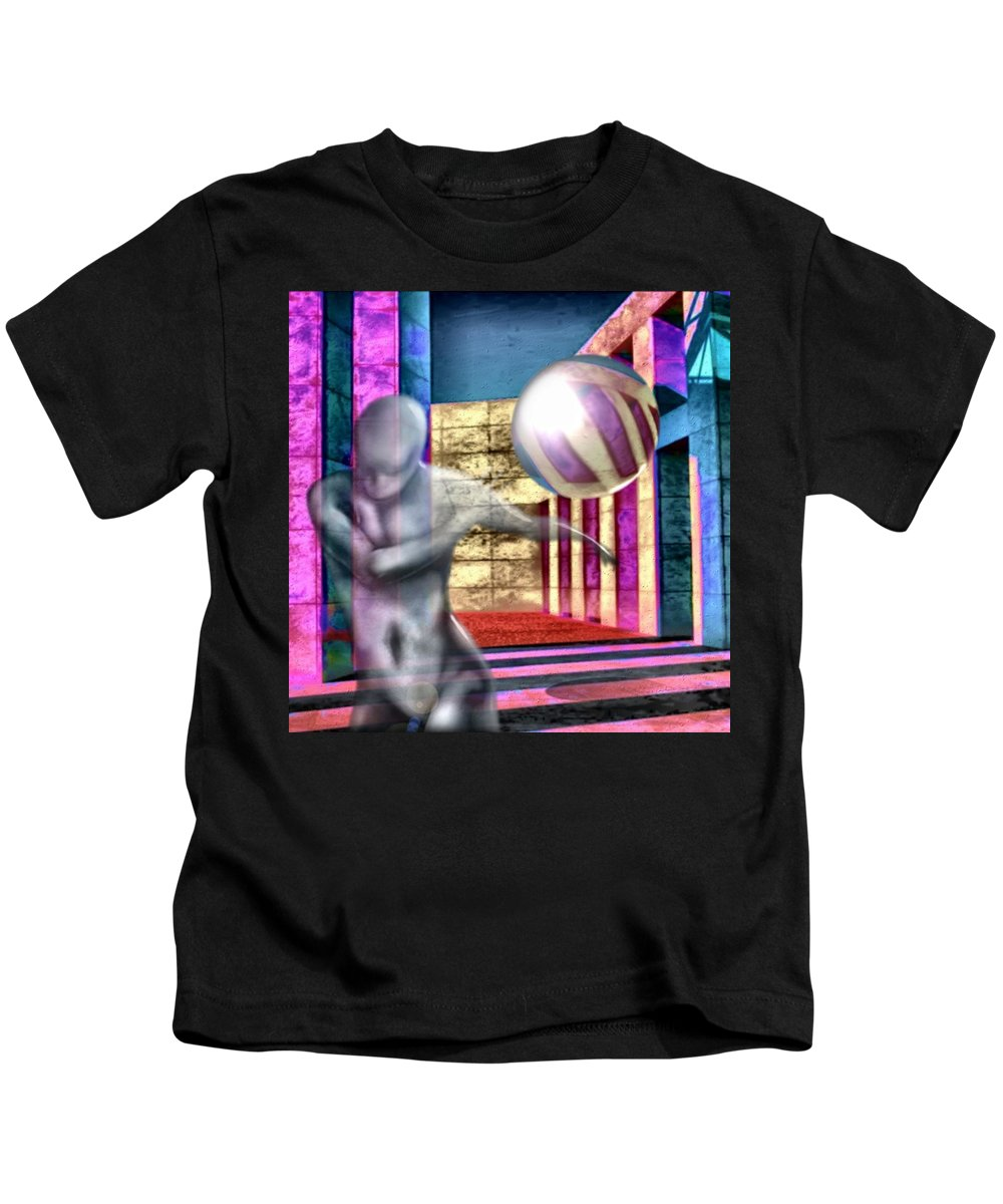 Playground Game Ball Colors Kids T-Shirt featuring the digital art Dream Play by Veronica Jackson
