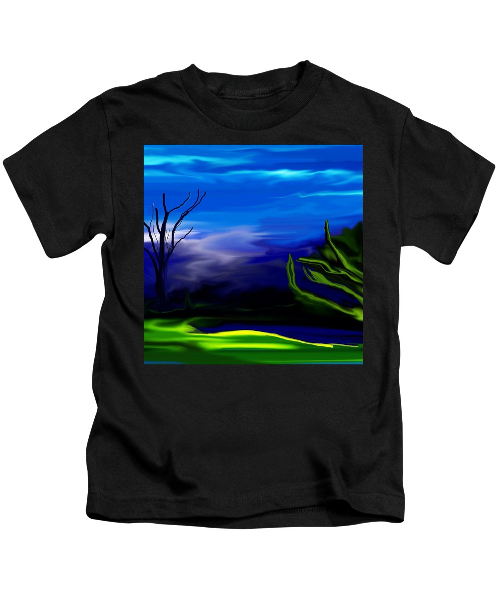 Dreamscape Kids T-Shirt featuring the digital art Dreamscape 062310 by David Lane