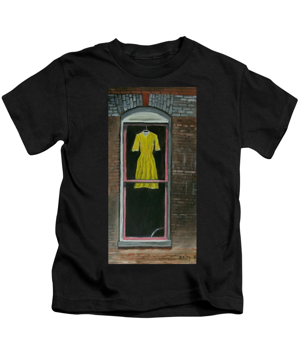 Original Kids T-Shirt featuring the painting Dress Up by Stephen King
