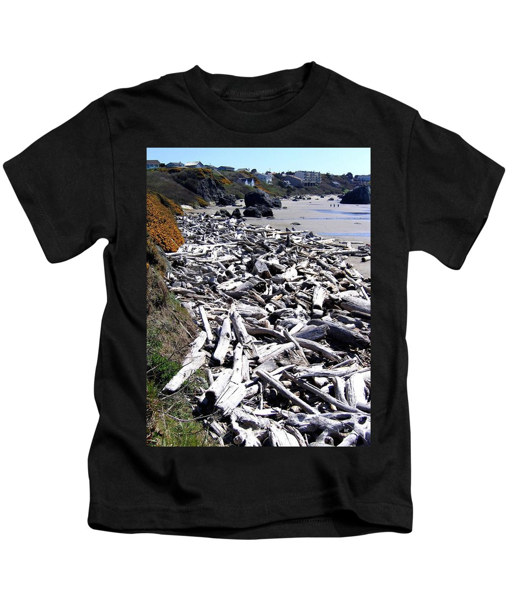 Driftwood Kids T-Shirt featuring the photograph Driftwood By The Ton by Will Borden
