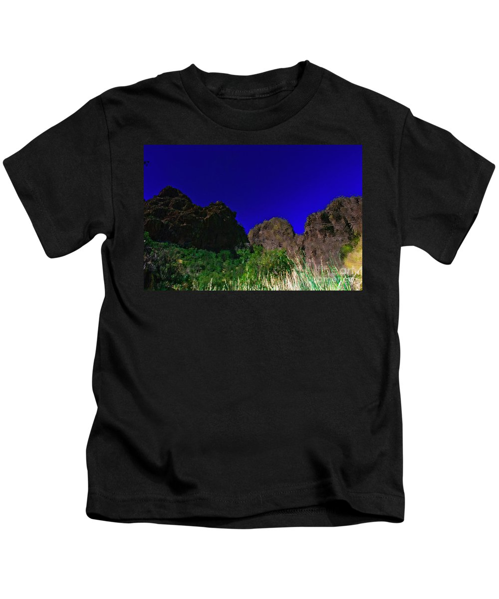 Dripping Springs Kids T-Shirt featuring the photograph Dripping Springs Reflection by Jennifer Sensiba