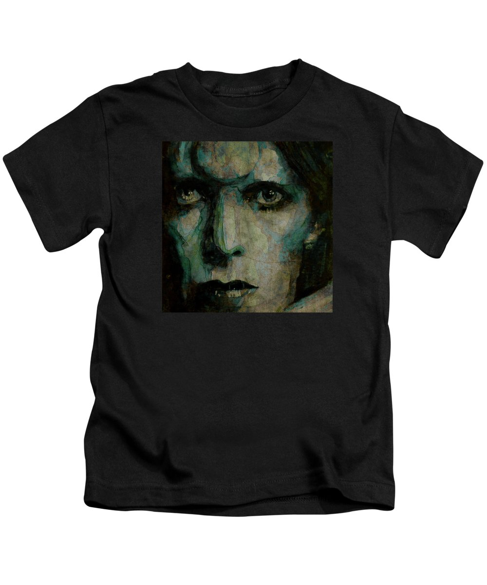 David Bowie Kids T-Shirt featuring the painting Drive In Saturday@ 2 by Paul Lovering
