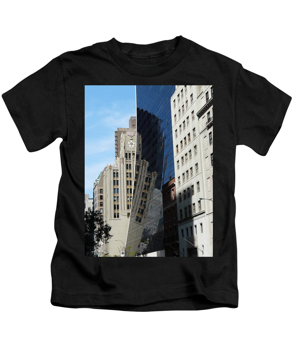 New York Kids T-Shirt featuring the photograph Drowning By Reflection by Valerie Ornstein