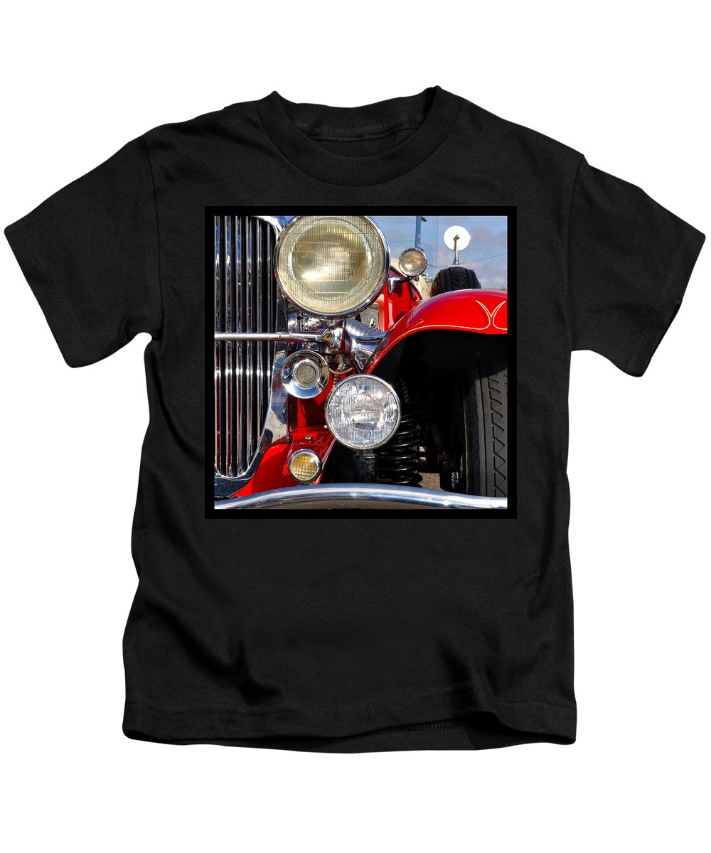 Car Kids T-Shirt featuring the photograph Duesenberg by Tim Nyberg