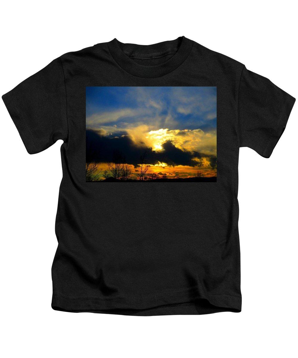 Dusk Kids T-Shirt featuring the photograph Dusk by Bradley Poage
