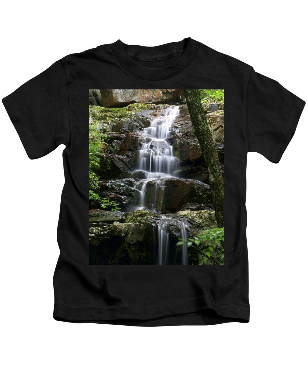 Waterfalls Kids T-Shirt featuring the photograph E Falls by Marty Koch
