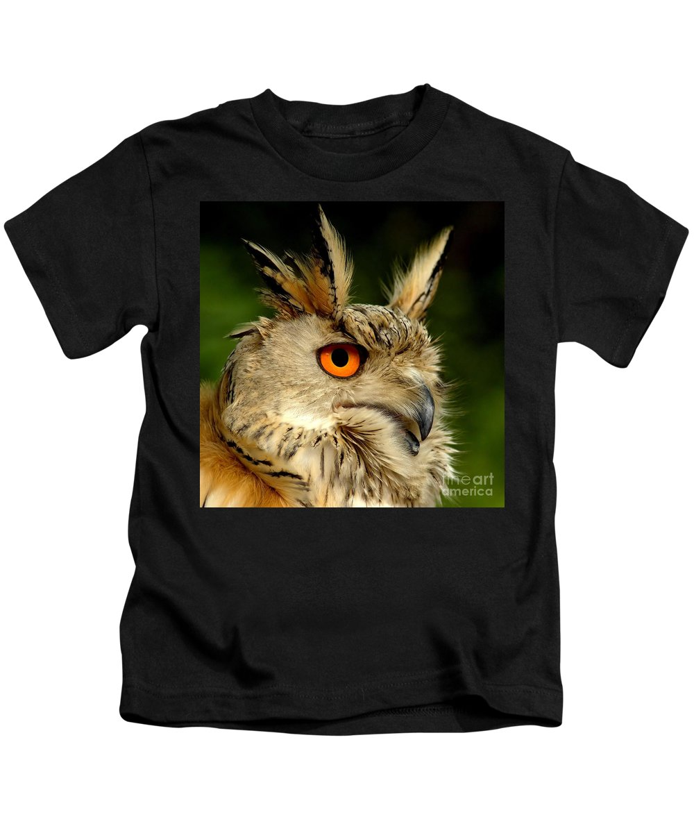 Wildlife Kids T-Shirt featuring the photograph Eagle Owl by Jacky Gerritsen