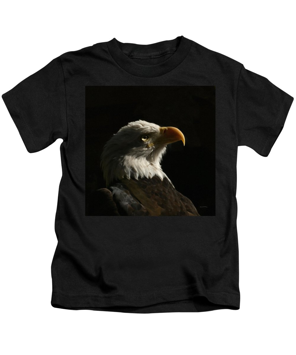 Animal Kids T-Shirt featuring the photograph Eagle Profile 4 by Ernie Echols