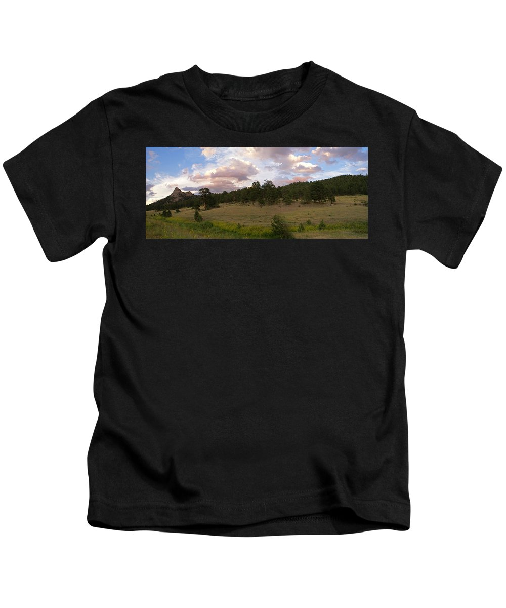 Eagle Roick Kids T-Shirt featuring the photograph Eagle Rock Estes Park Colorado by Heather Coen