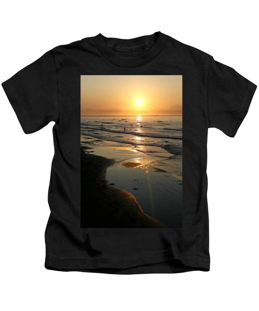 Water Kids T-Shirt featuring the photograph Early Morning Fishing by Marilyn Hunt