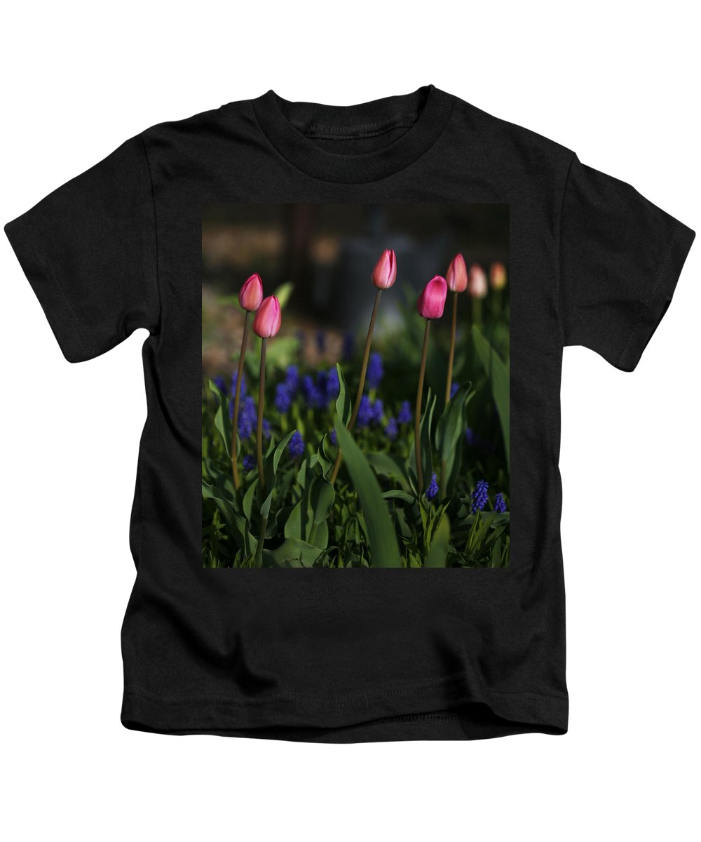 Flower Kids T-Shirt featuring the photograph Early Morning Garden by Marilyn Hunt
