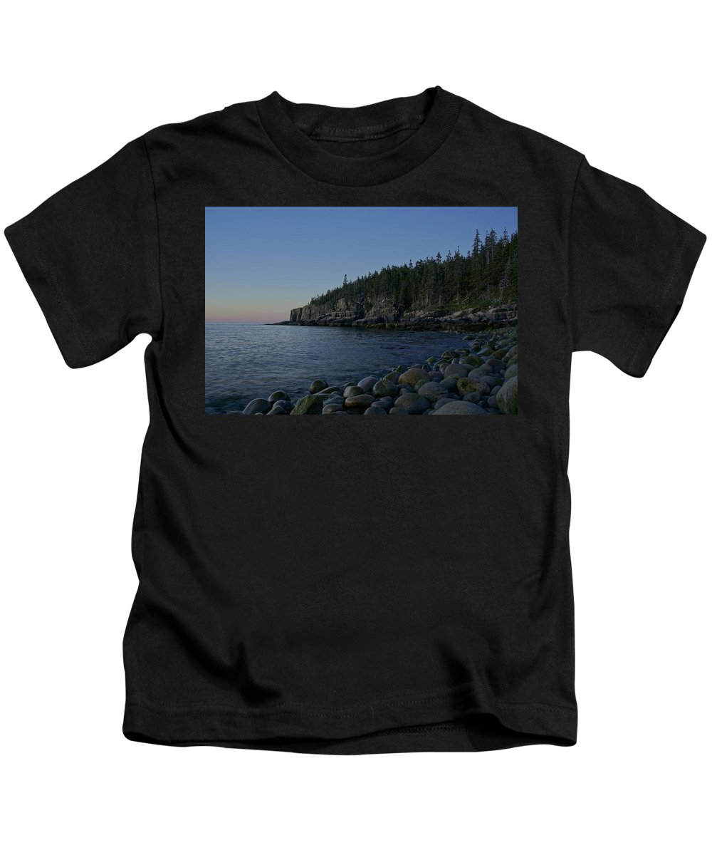 Acadia Kids T-Shirt featuring the photograph Early Morning In Acadia by Brian Kamprath