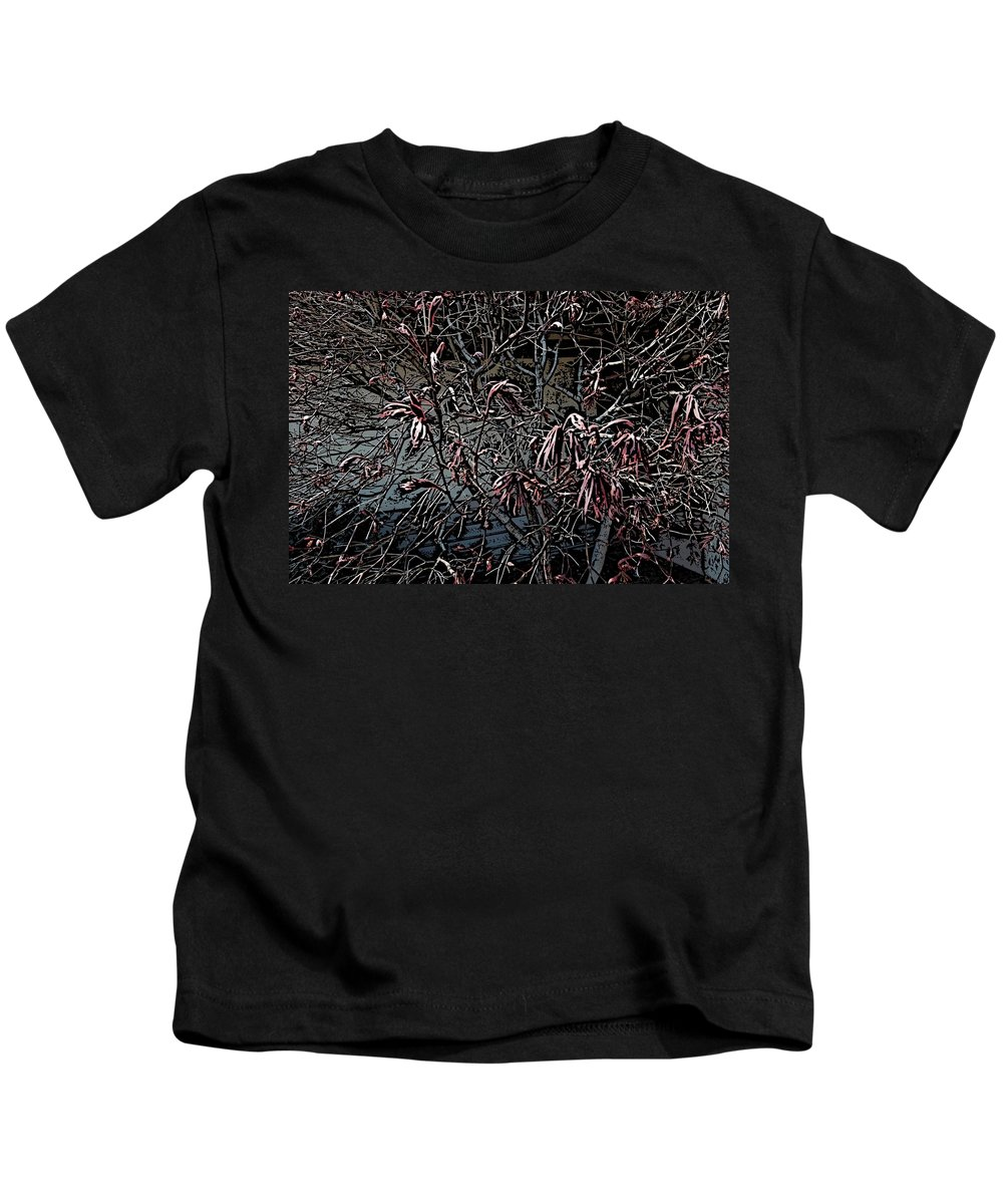 Digital Photography Kids T-Shirt featuring the digital art Early Spring Abstract by David Lane