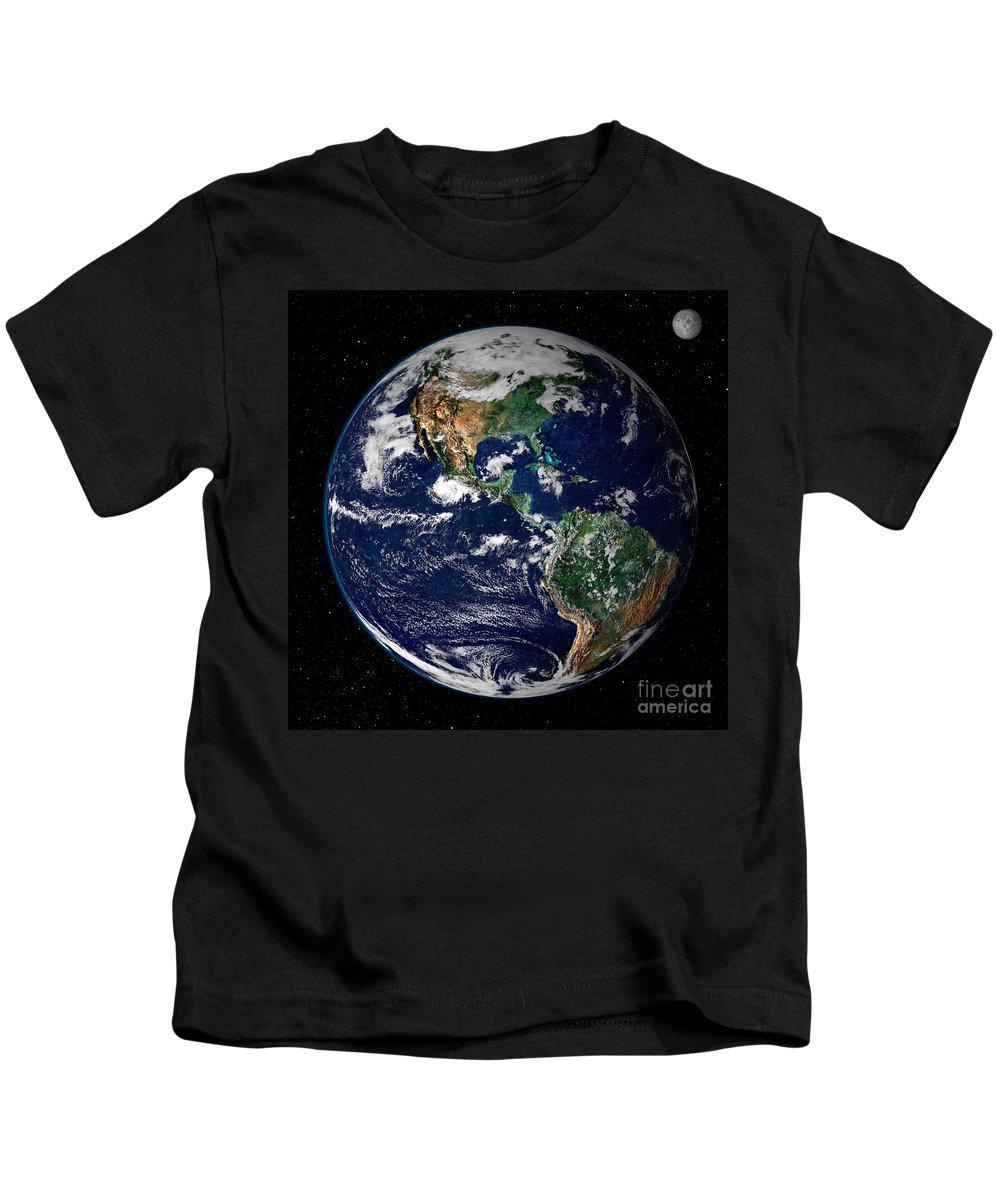 Americas Kids T-Shirt featuring the photograph Earth From Space by NASA Goddard Space Flight Center