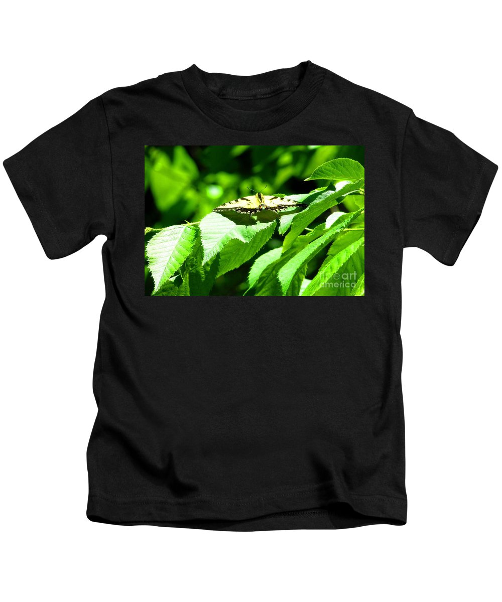 Butterfly Kids T-Shirt featuring the photograph Wildlife Scenes #4 by Jarryl Bhagwat