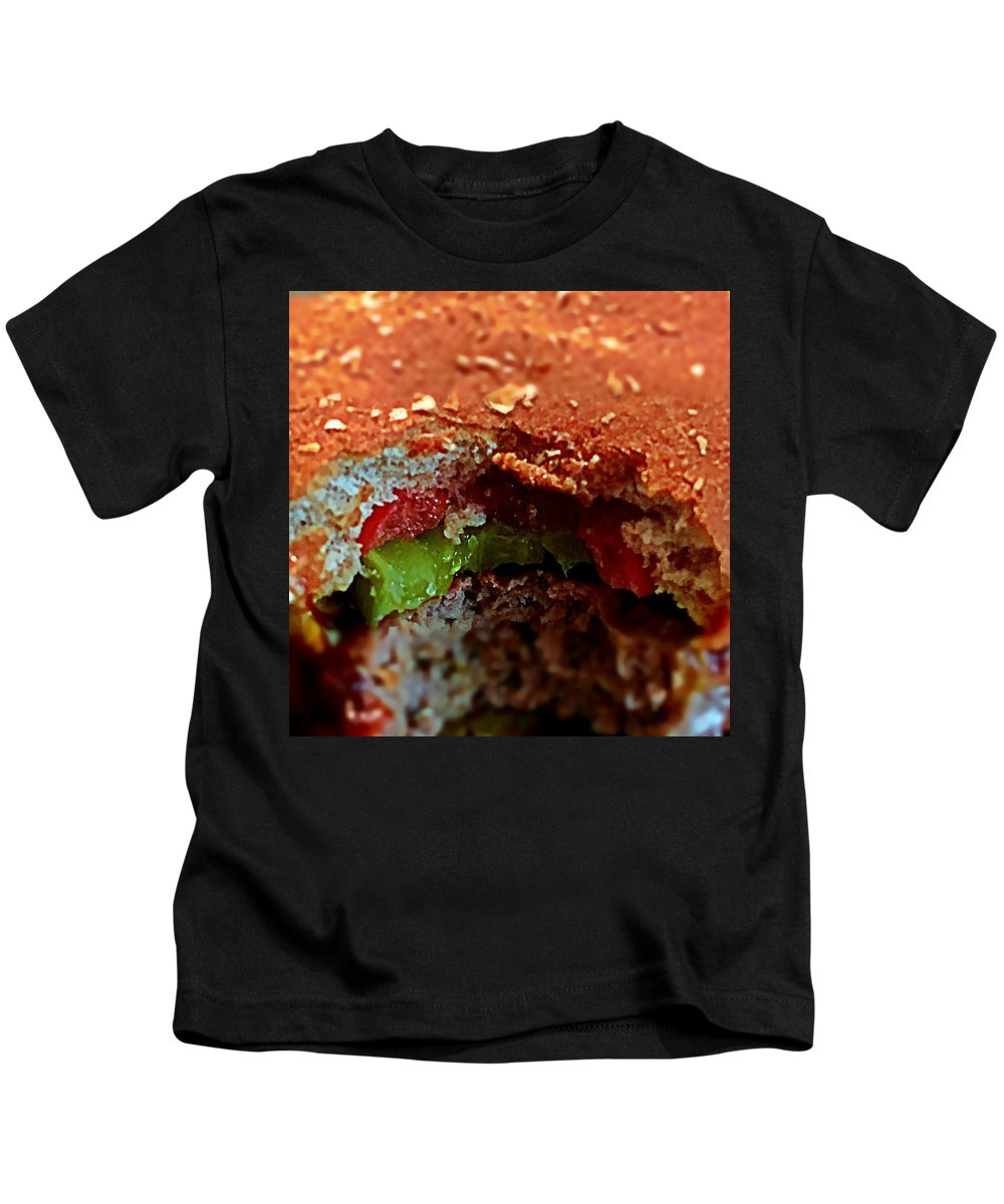 Hamburger Kids T-Shirt featuring the photograph Eat Me by Paul Wilford