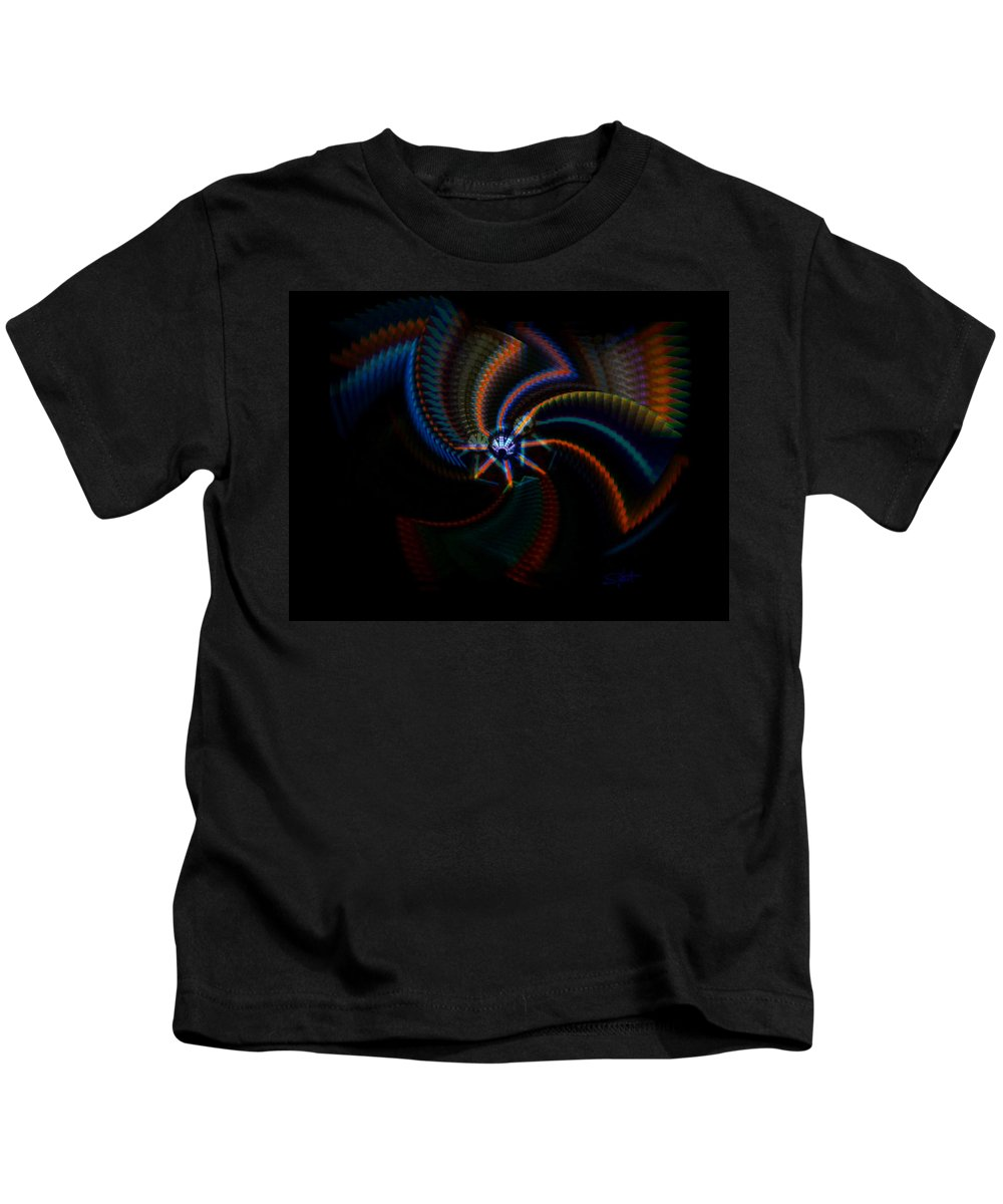 Chaos Kids T-Shirt featuring the painting Echoes by Charles Stuart