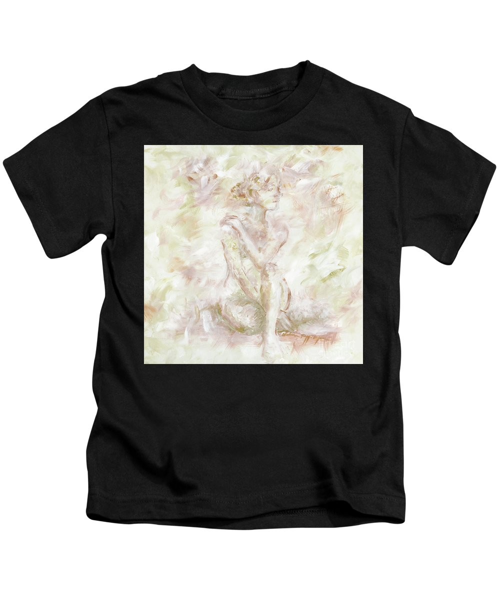 Nude Kids T-Shirt featuring the painting Echoes by Nadine Rippelmeyer