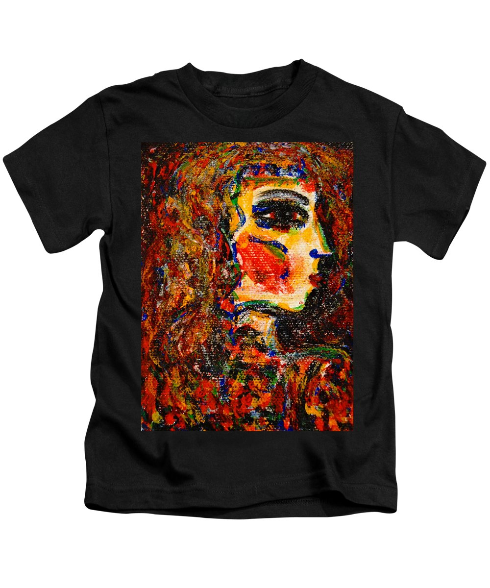 Ancient Egypt Kids T-Shirt featuring the painting Egyptian by Natalie Holland