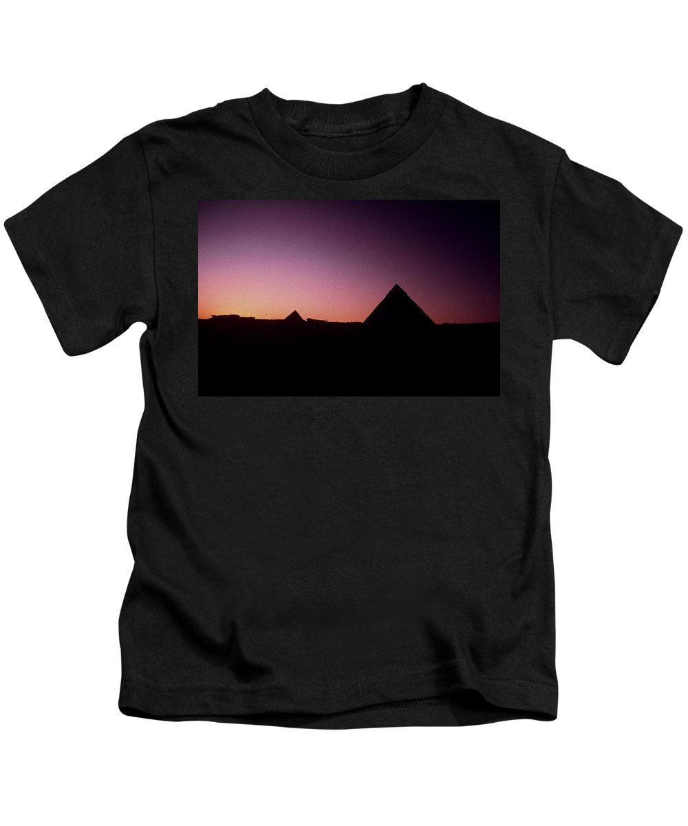 Egypt Kids T-Shirt featuring the photograph Egyptian Sunset by Gary Wonning