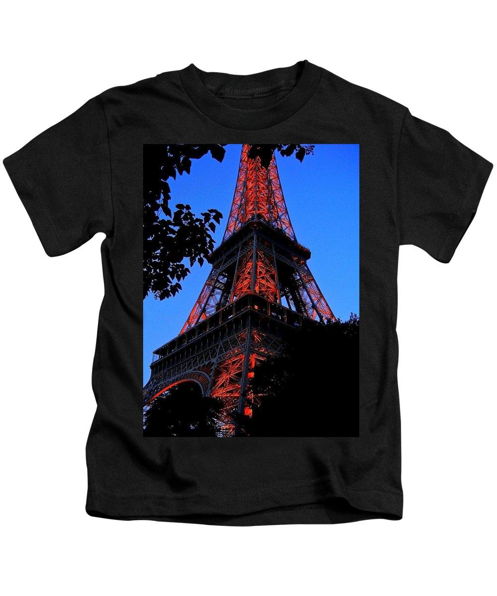 Europe Kids T-Shirt featuring the photograph Eiffel Tower by Juergen Weiss