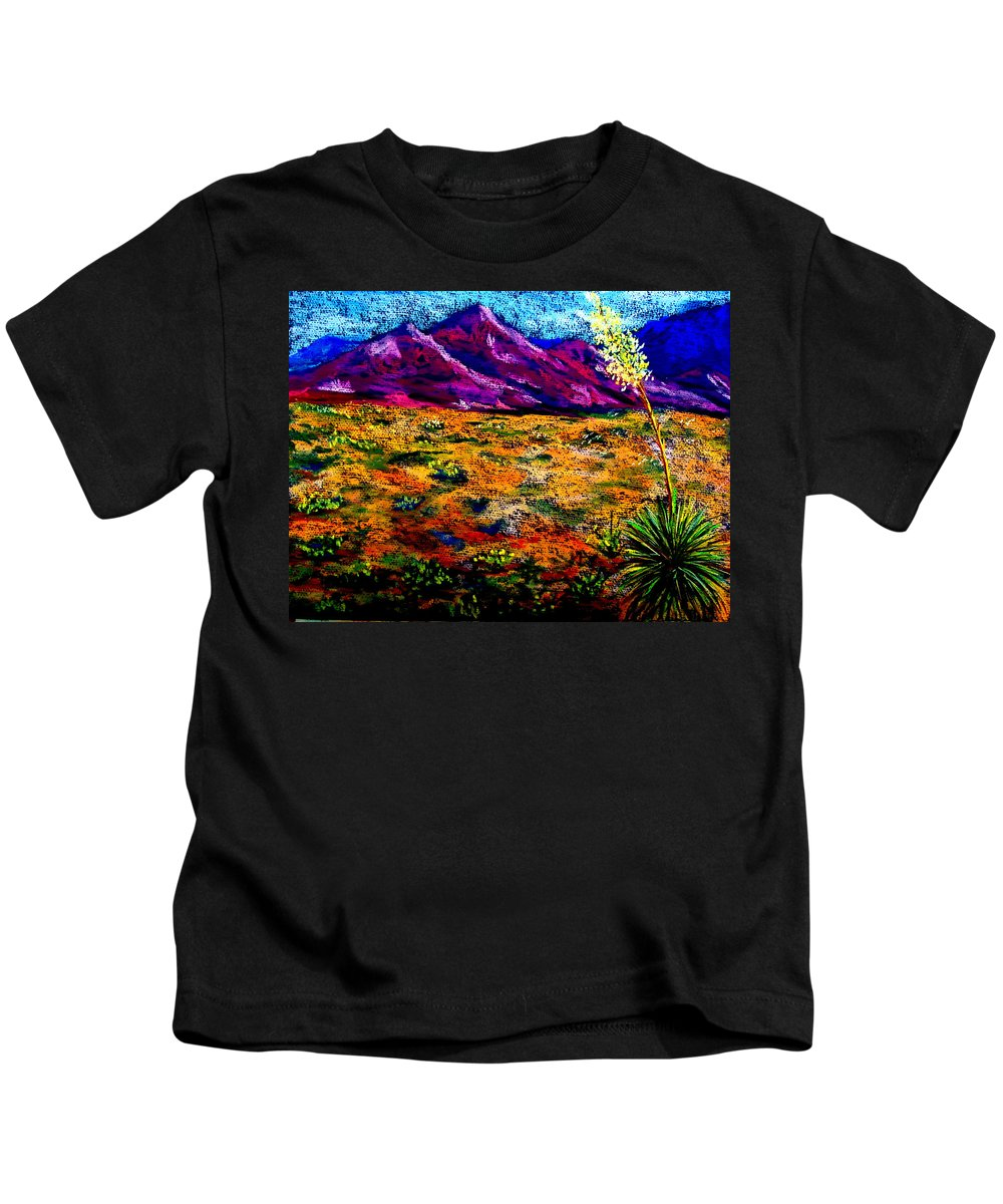 Yucca Kids T-Shirt featuring the painting El Paso by Melinda Etzold