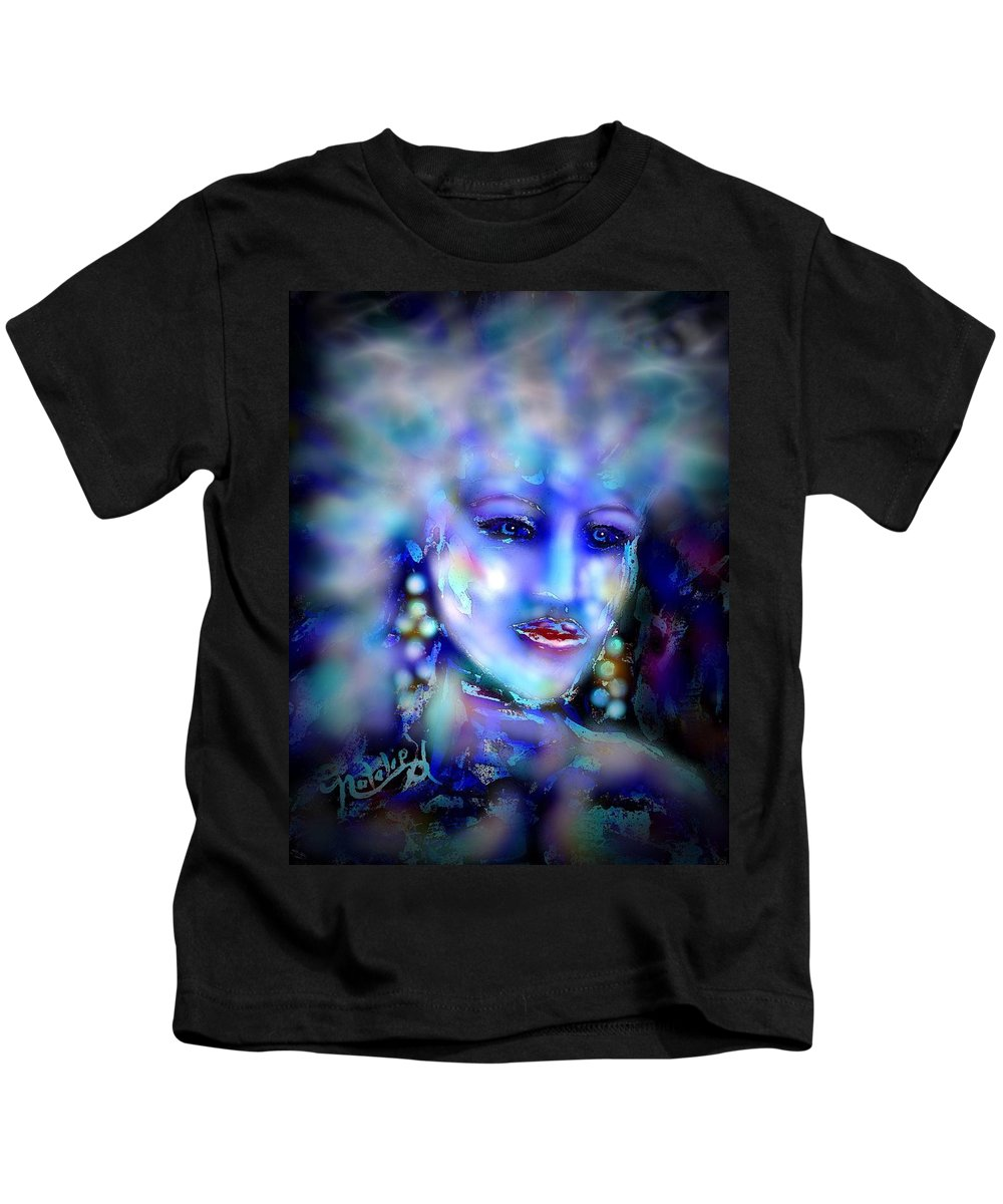 Woman Kids T-Shirt featuring the painting Electra by Natalie Holland