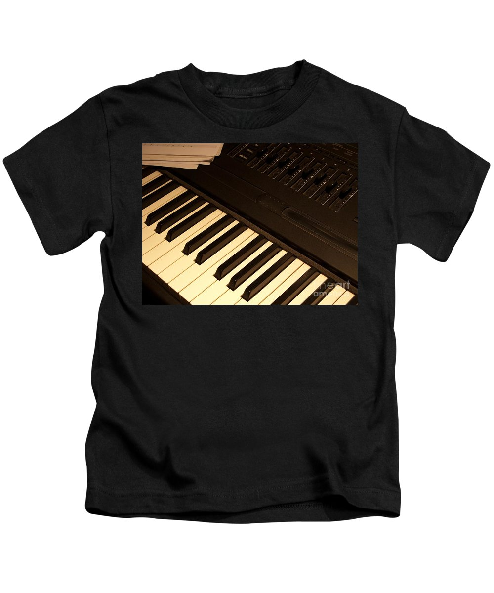 Keyboard Kids T-Shirt featuring the photograph Electronic Keyboard by Ann Horn