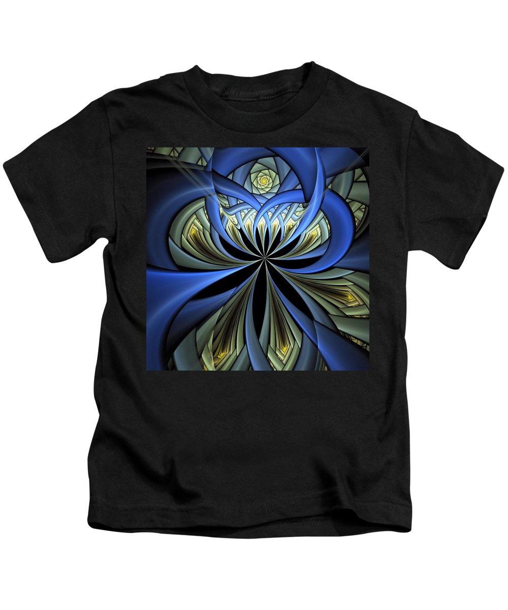 Digital Art Kids T-Shirt featuring the digital art Embedded by Amanda Moore