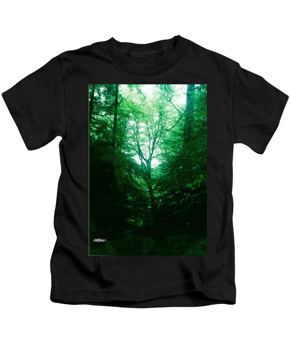 Emerald Kids T-Shirt featuring the photograph Emerald Glade by Seth Weaver