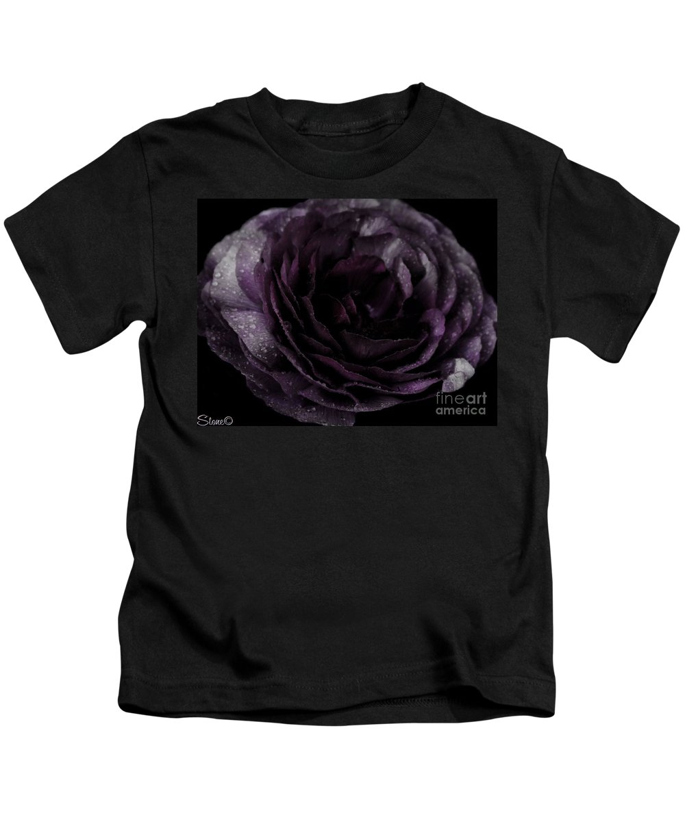 Purple Kids T-Shirt featuring the photograph Emily's Great Ant Thingy Flower..... by September Stone