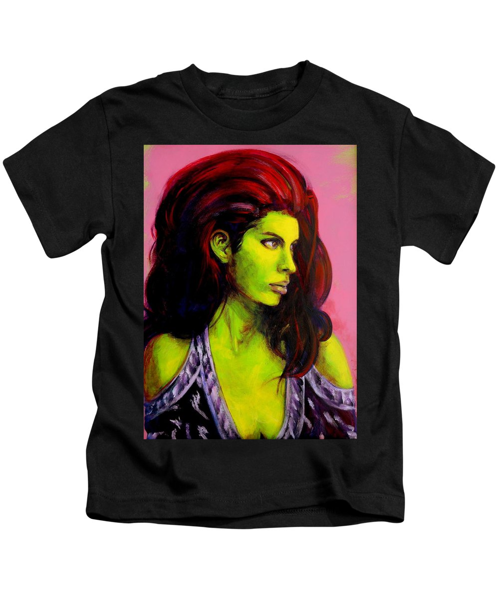Girl Kids T-Shirt featuring the painting Empress At Rest by Jason Reinhardt