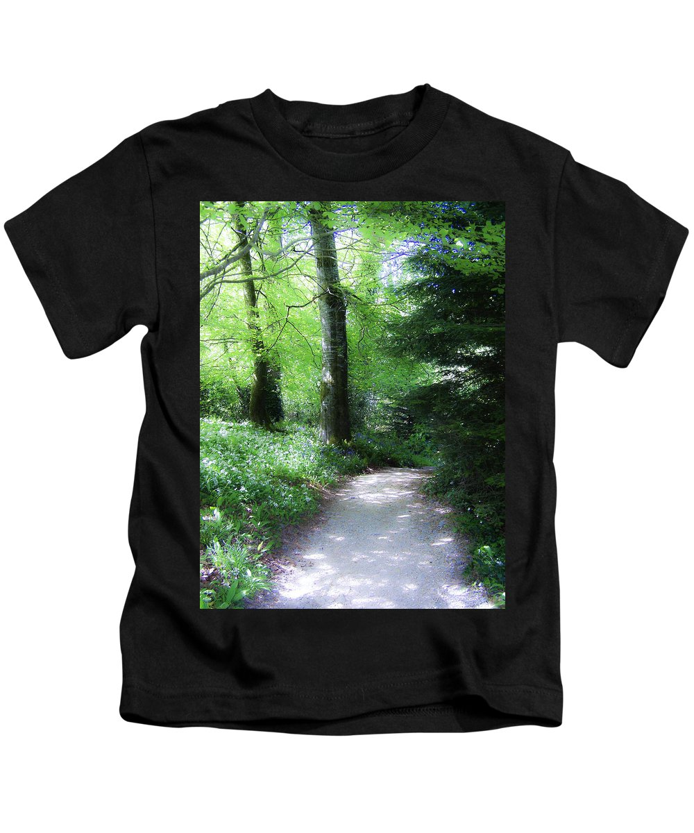 Ireland Kids T-Shirt featuring the photograph Enchanted Forest At Blarney Castle Ireland by Teresa Mucha