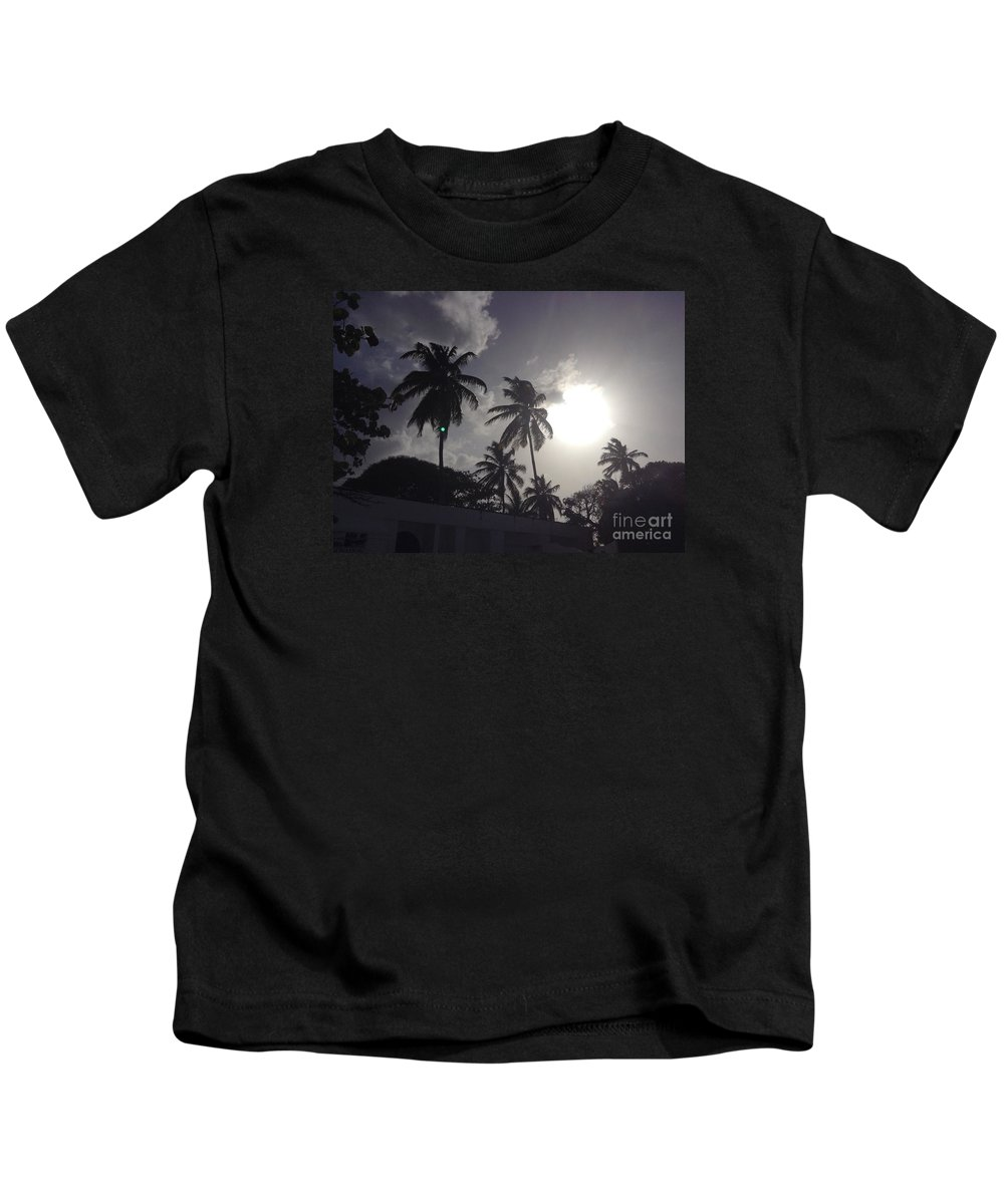 Sunset Kids T-Shirt featuring the photograph End Of The Day In The Islands by Gina Sullivan