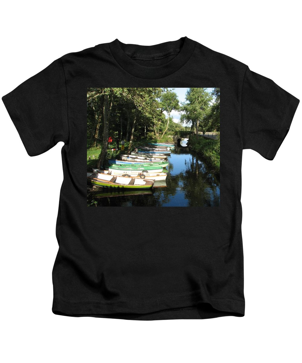 Boat Kids T-Shirt featuring the photograph End Of The Day by Kelly Mezzapelle