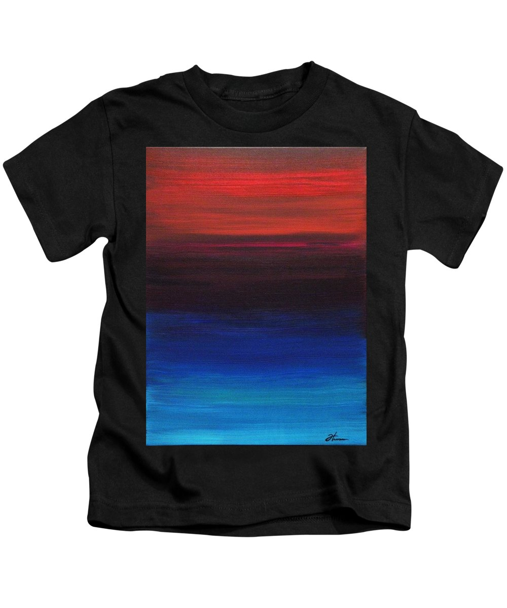 Original Kids T-Shirt featuring the painting Endless by Todd Hoover