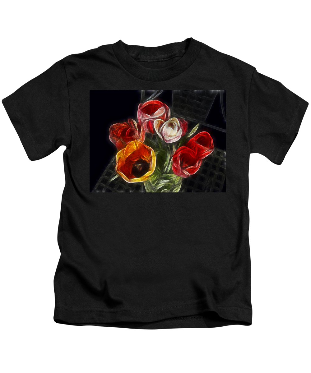 Tulip Kids T-Shirt featuring the photograph Energetic Tulips by Joachim G Pinkawa