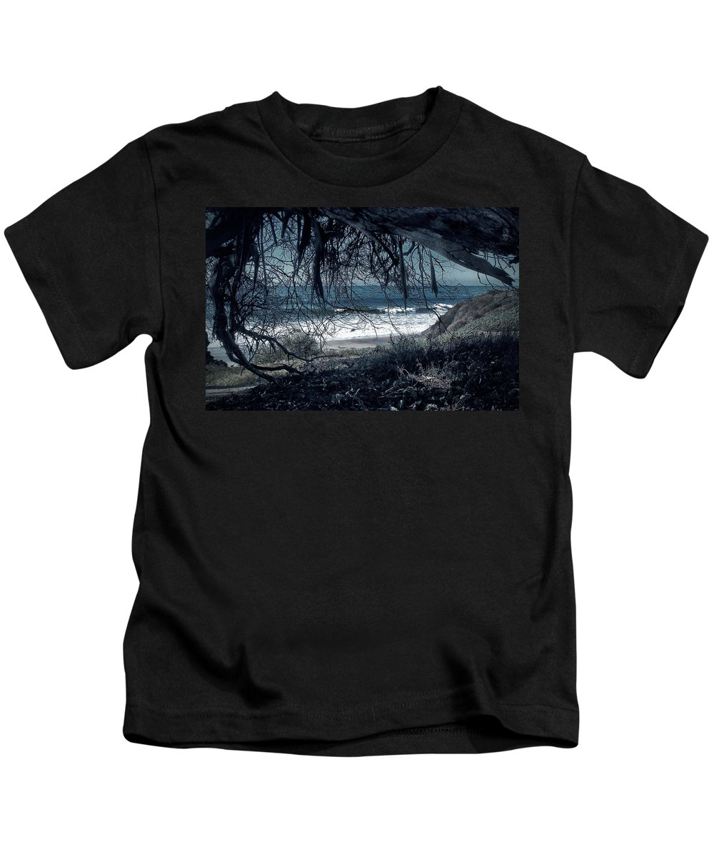 Dark Kids T-Shirt featuring the photograph Entangled Dreams by John A Royston