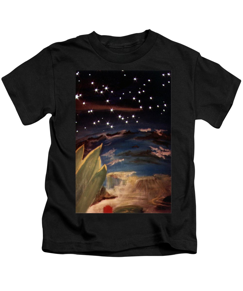 Surreal Kids T-Shirt featuring the painting Enter My Dream by Steve Karol