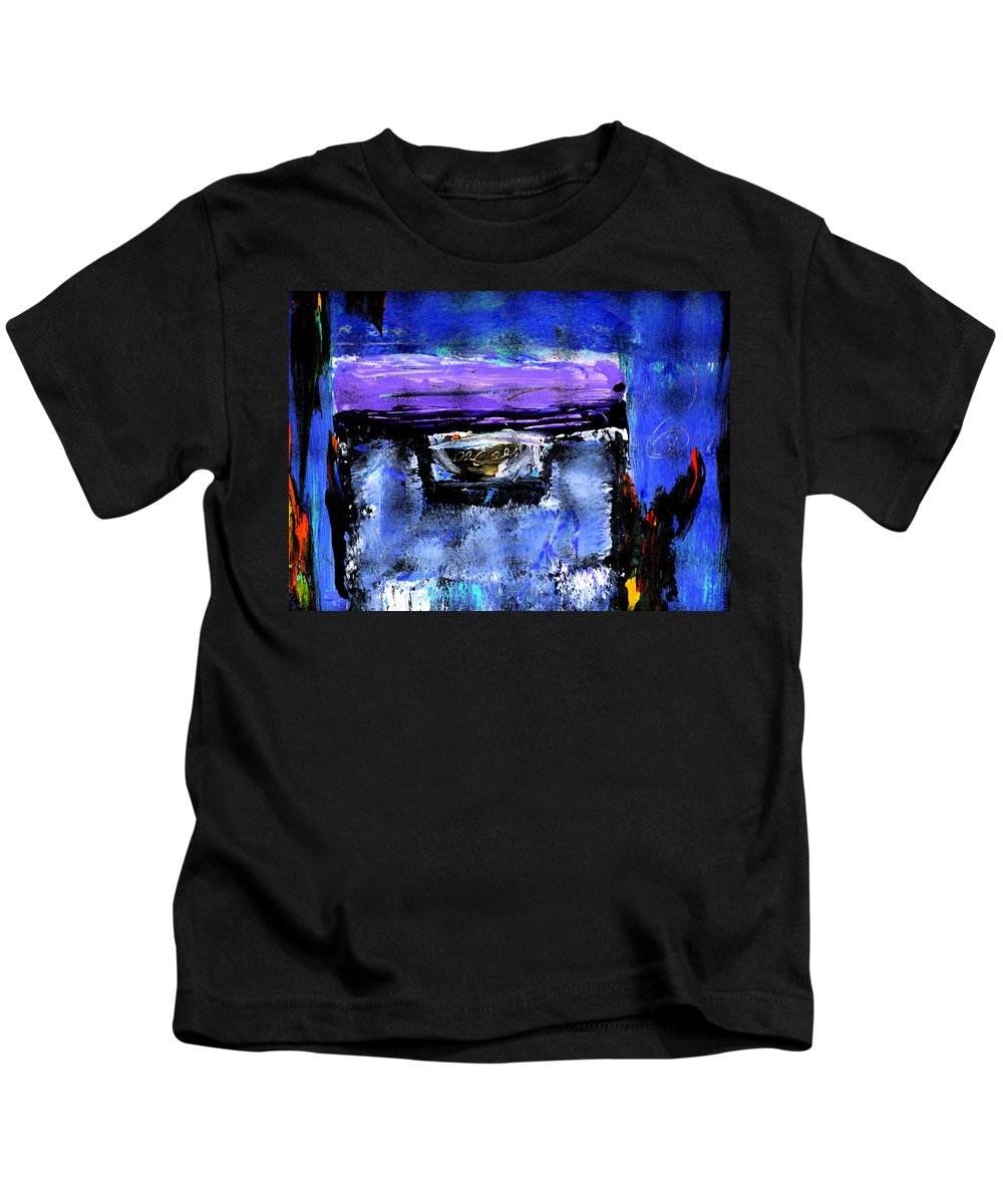 Abstract Kids T-Shirt featuring the painting Enter by Wayne Potrafka