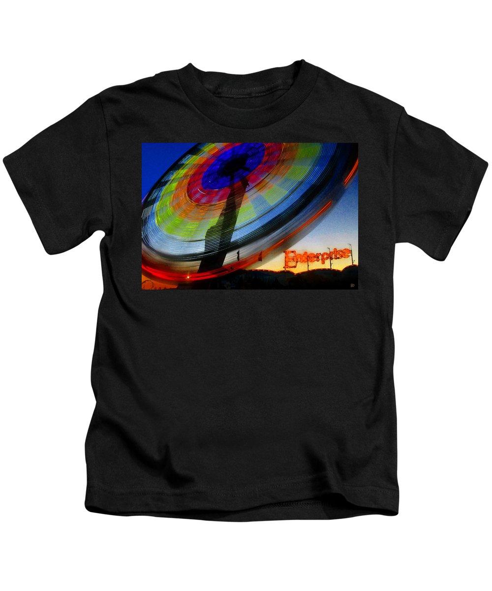 Enterprise Kids T-Shirt featuring the painting Enterprise by David Lee Thompson