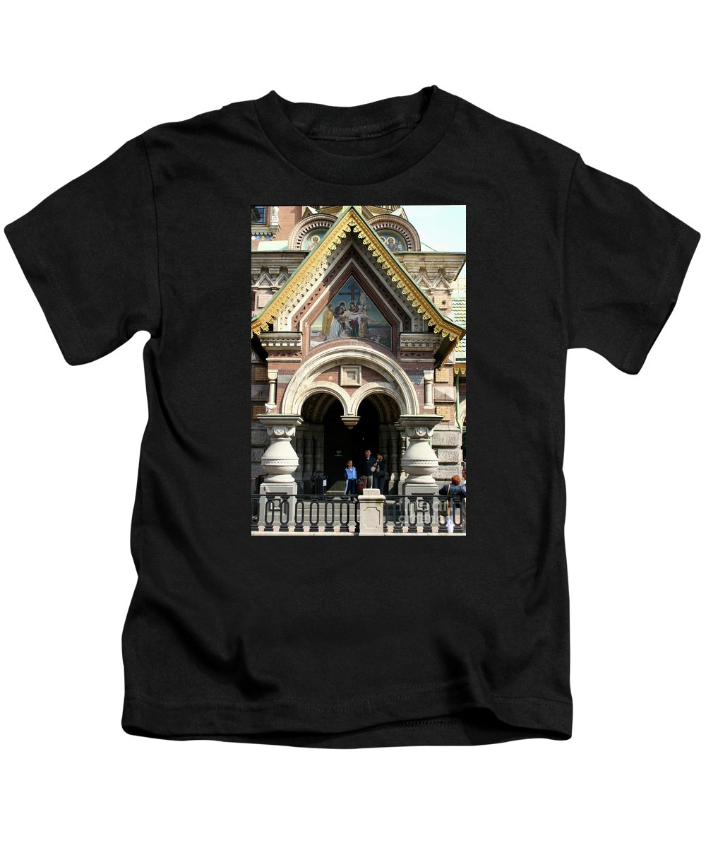 Entrance Kids T-Shirt featuring the photograph Entrance Resurrection Church by Christiane Schulze Art And Photography