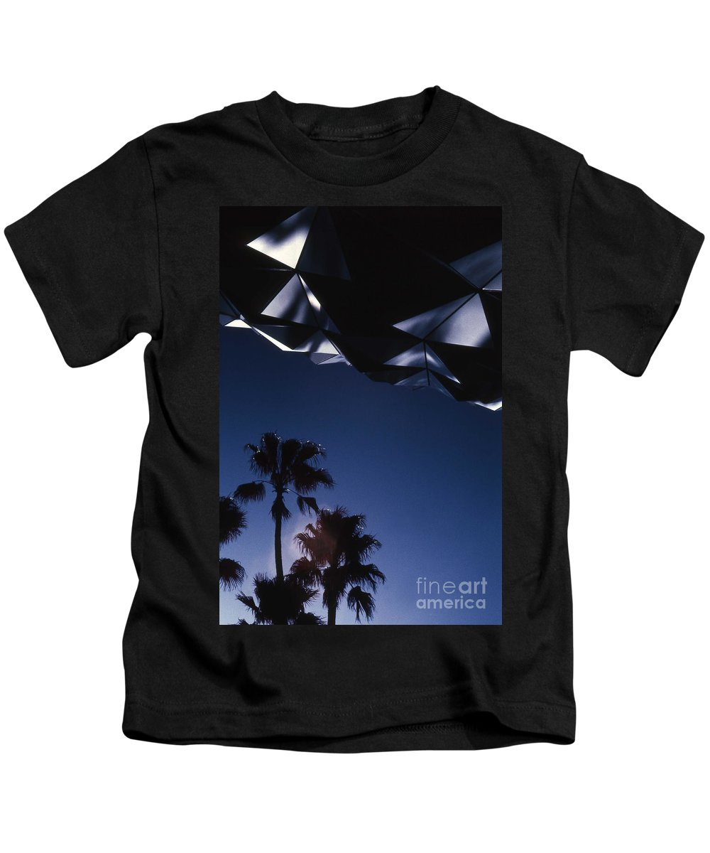 Epcot Kids T-Shirt featuring the photograph Epcot Abstract by Richard Rizzo