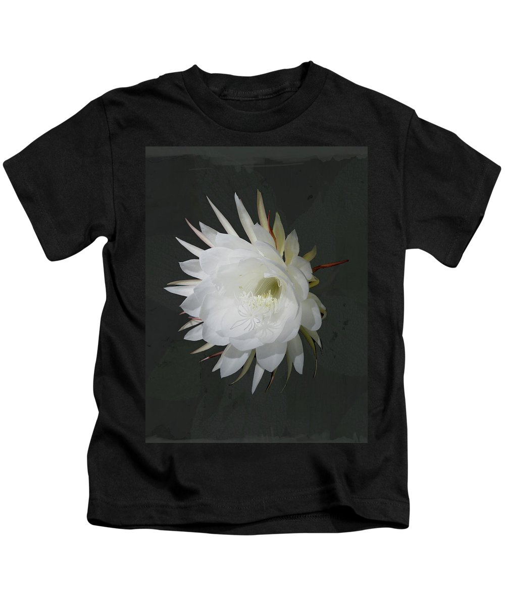 Flower Kids T-Shirt featuring the photograph Epiphyte Blossom - Epiphyllum Oxypetalum by Mother Nature